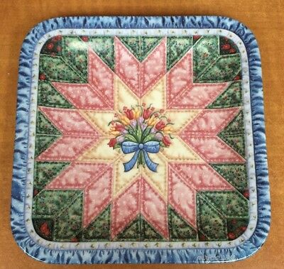 Mary Ann Lasher Cherished Traditions Quilt Plate The Star 1994 Bradford Exchange