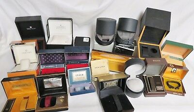 Lot of 18 Watch Boxes Tag Heuer Concord Hamilton Gruen Benrus Bulova Seiko