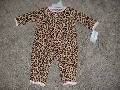 Carters Baby Girls Fleece Leopard Outfit Size 3 12 Months mos 3M 12M NWT NEW $20
