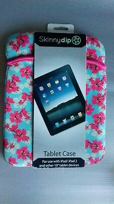 SkinnyDip iPad / iPad2 and 10 inch  Tablet Devices Floral Cover