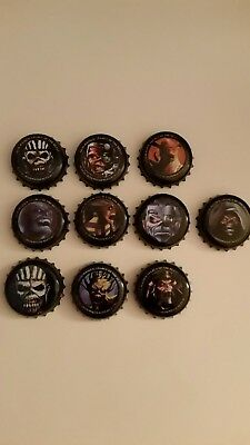 Beer Bottle top CAP. TROOPER / HALLOWED IRON MAIDEN ale /beer. set of 10