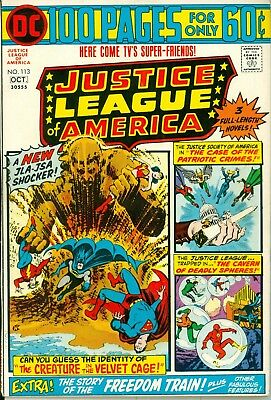 Justice League of America #113. Sep-Oct 1974. DC. FN-.