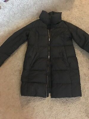Pea In A Pod Maternity Coat Small Medium Down Puffy Jacket Double Zip Long GUC