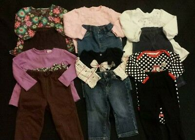 Baby Girl Size 12 months Mixed Fall & Winter Clothing Lot