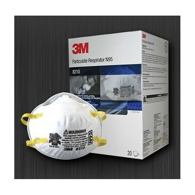 3M 8210 Particulate Respirator N95, box of 20