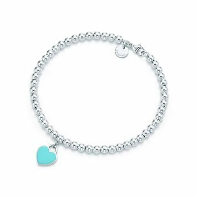 Tiffany & Co. Kugelarmband mit Emaille-Glasur in Tiffany Blau925er Silber