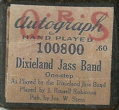 Dixieland Jass Band One Step, PB J Russel Robinson QRS 100800 Piano Roll Orig