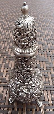 Antique S. Kirk And Son Co Sterling Silver Repousse Floral Shaker Footed 65 gr