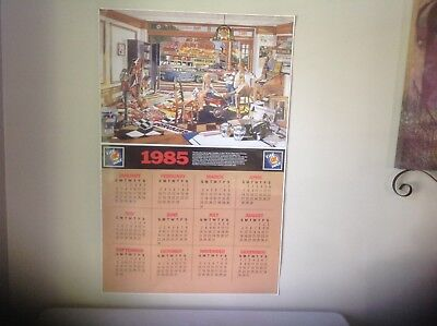 "Chevrolet Ok 1985 Showroom Calendar Poster 24""X 37"" Great Condition"