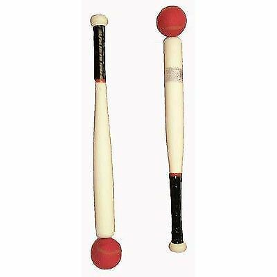 "Wooden Rounders and Baseball Bat And Ball 18"" and 29"" Sports Outdoor Kids"