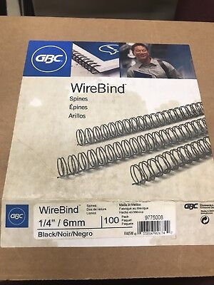"1/4"" 3:1 Twin Loop Wire Binding Spines-100/pack, Black, White, or Navy"
