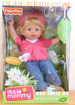 """Lets Play"" Day in Sun Sweet As Me Retired Little Mommy Doll Fisher Price NEW"