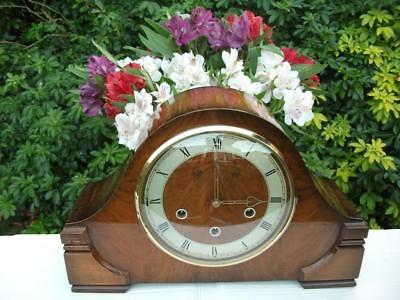 Smiths Westminster Chime 8 Day Walnut Case Mantel Clock. 1955. Fully Overhauled.