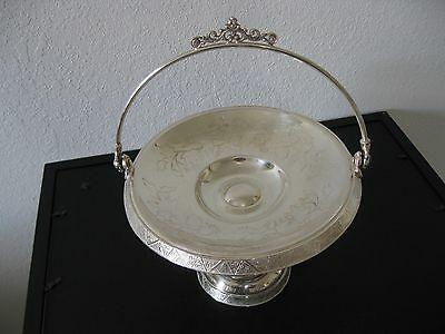 antique silver plated bride's basket/tidbit tray/Hartford Silver Co.