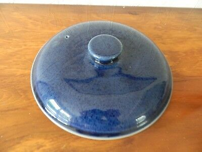Denby  'cottage Blue'  Large Lid For Casserole
