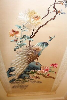 Vintage antique Chinese Silk Embroidery Scroll