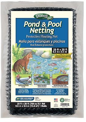 Gardeneer By Dalen Pond  Pool Netting Protective Floating Net 28' x 28'