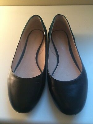 Womens' Leather, Suede Flats, Nwot, Black, Green, Size 39, Bought In Paris