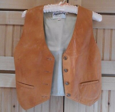 Women's Vintage Brown Leather Vest (Western S 9/10)  Stunning Buttery Feel
