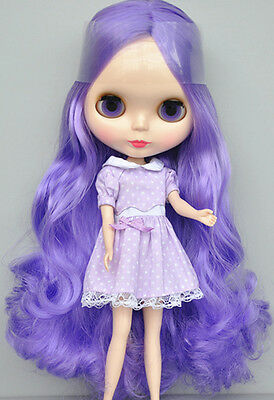 """12/"""" Neo Blythe Doll Short Purple Hair Nude Doll from Factory XZ079+Gift"""