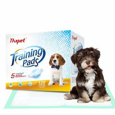 Thxpet Puppy Pads Super Absorbent Leak-proof 120 Count Dog Pee Training Pads