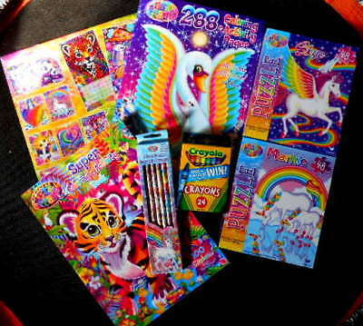 LISA FRANK Bundle-Coloring-Activity-Puzzles-Calendar-Pencils-Crayons