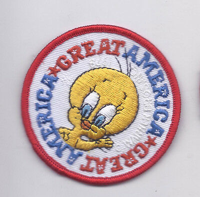 Vintage Warner Brothers TWEETY Great America Jacket Patch Mint Condition 1978