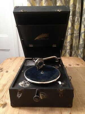 Vintage Crescendo Decca Gramophone / Wind Up Record Player