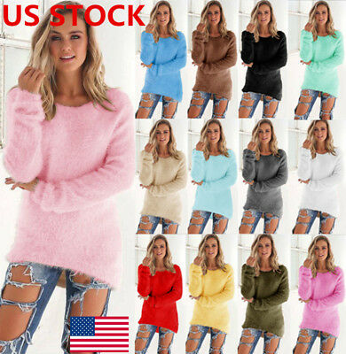 Women Long Sleeve Knitted Sweater Casual Pullover Tops Cardigan Outwear Jumper