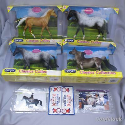 4 Breyer Classics Collection Horses In Box New Old Stock & 2 Mighty Minis #AD413