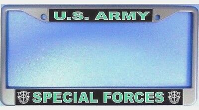 U S Army-SPECIAL OPERATIONS-License Plate Frame-Chromed Cast Metal #811017