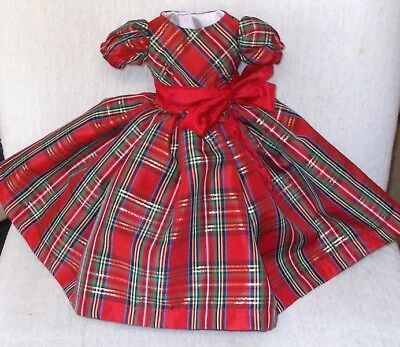 "20""  CISSY  MISS REVLON  FASHION   Clothes   BEAUTIFUL   PLAID   TAFFETA   DRESS"