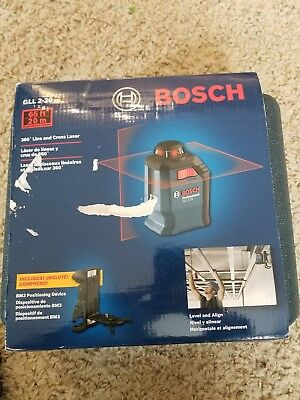 Brand New!!Bosch GLL 2-20 360°  Line and Cross Laser,BM3 w/hard carry case