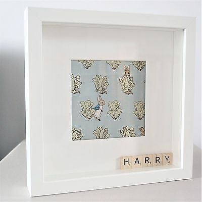 Personalised Peter Rabbit Fabric Nursery Picture New