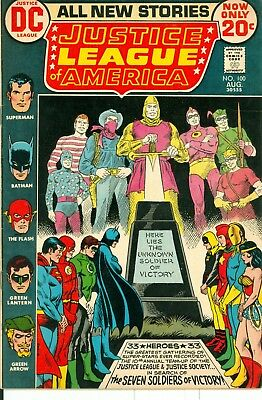 Justice League of America #100. Aug 1972. DC. FN.