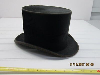 Vintage Top Hat Shannon and Sokup Co Black Silk Plush