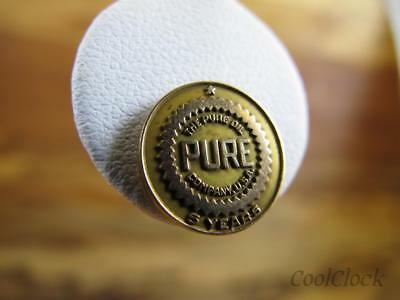 10k Gold 5 Year PURE OIL COMPANY Lapel Advertising Pin 12mm S346