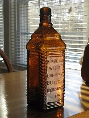ca.1870's H. P. Herb Cherry Wine Bitters - Excellent!