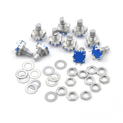 10pieces 12 mm EC11 Key Switch Rotary Encoder Switches JS