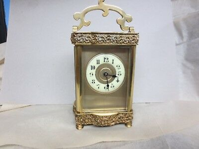 French 8 day striking  carriage clock