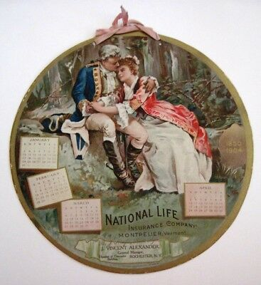 "1905 ""National Life Insurance Co."" Calendar w/ History of The Revolutionary War*"