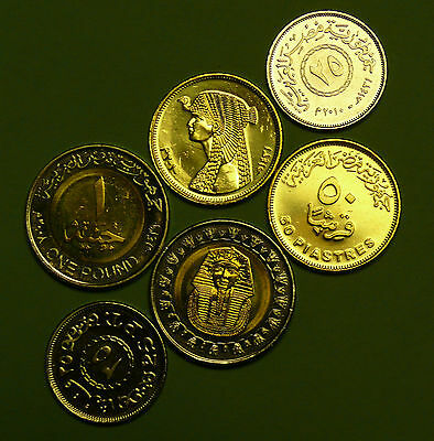 Lot Of 3 Egyptian Coins Cleopatra, King Tut & 25 Piasters All  Uncirculated