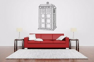 Wall Room Decor Art Vinyl Sticker Mural Decal Police Booth Public Call AS2402