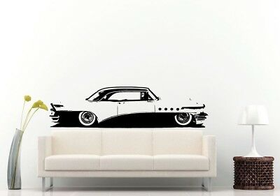 Wall Room Decal Vinyl Sticker American Muscle Old Antique Classic Sport Car L686