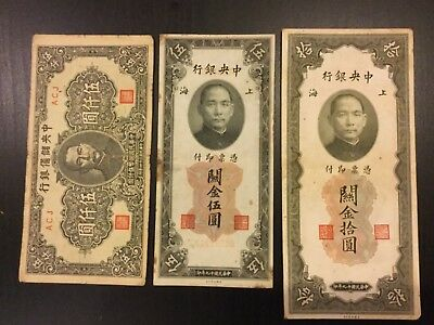 China paper money - a lot of 3 notes
