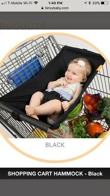 Binxy Baby Baby Shopping Cart Hammock in Black