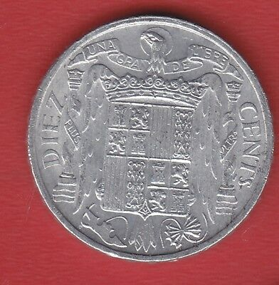 Spain 10 Cents 1953