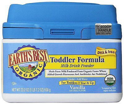 2 PACK - Earth's Best Organic Toddler Formula Vanilla 23.2 Ounce 2 Tubs 46.4 oz