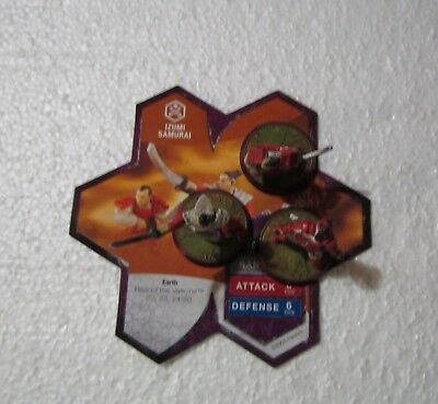 Izumi Samurai- Heroscape - Rise of the Valkyrie - Figurines and Card
