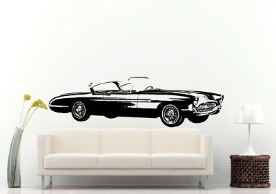 Wall Room Decal Vinyl Sticker American Muscle Old Antique Classic Sport Car L693